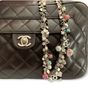 Chanel Handpainted Glass Bead CC Necklace